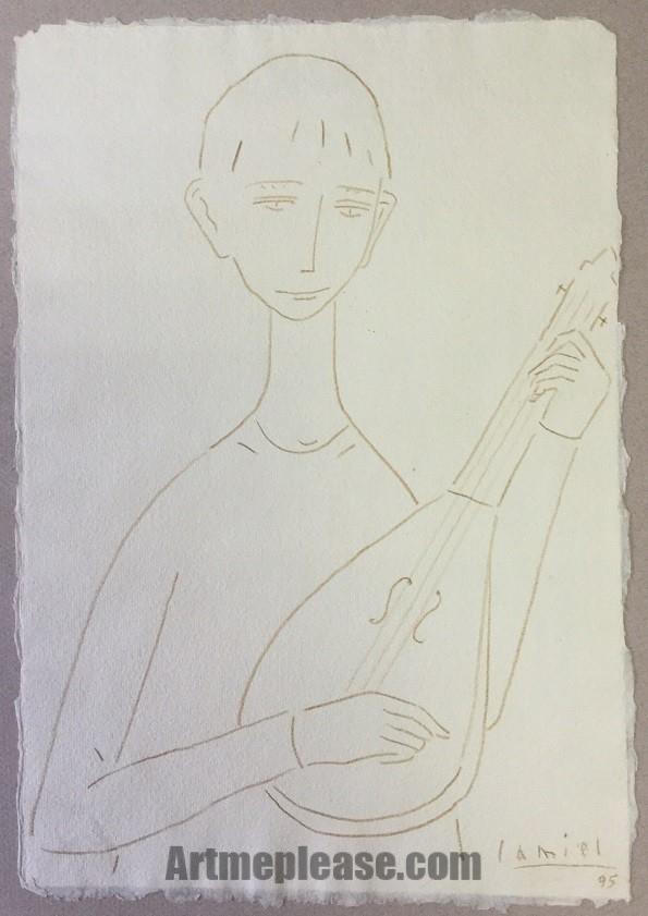 Niño con laúd II